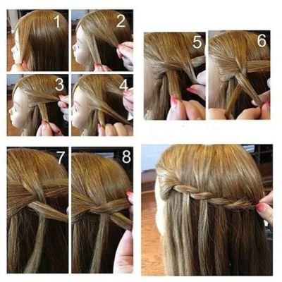 как плести водопад из волос пошаговая инструкция