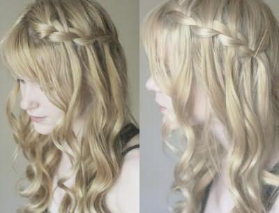 плести водопад из волос