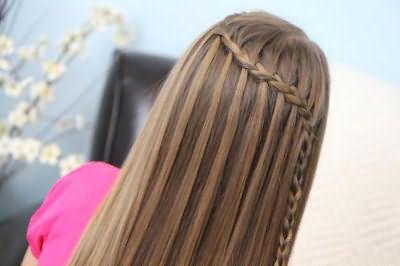 плести водопад из волос фото