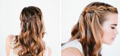 Кудрявая коса-водопад