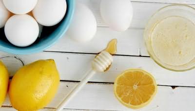 Лимонная маска для объема и блеска волос