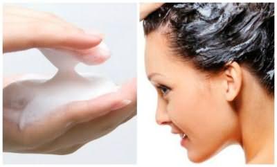 Хозяйственное мыло для смывки черного цвета краски с волос