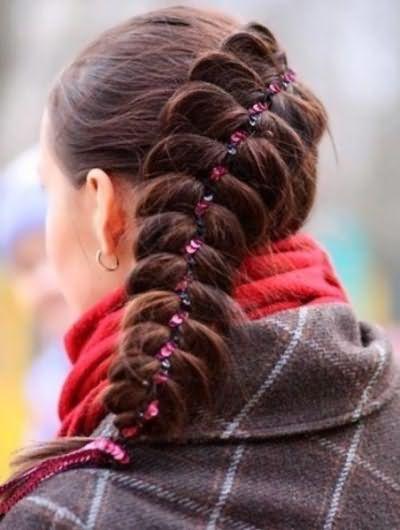 Французская коса наизнанку