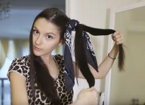 как накрутить волосы на ночь без бигуди 3
