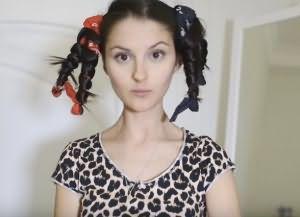 как накрутить волосы на ночь без бигуди 5