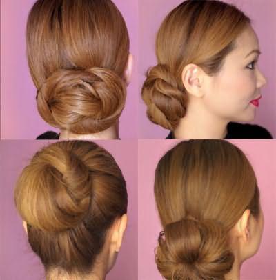 Пучки для длинных волос