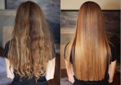 Процедура успешна на любом типе волос.