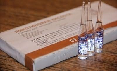 Никотиновая кислота должна использоваться сразу после вскрытия, уже через 20 минут она теряет 40% своих полезных свойств