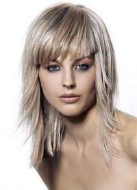 стрижки на средние редкие волосы 3
