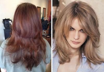 Каскад для средних волос