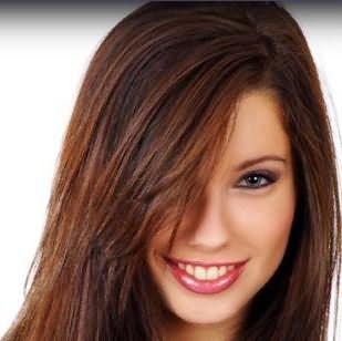 Каштановые волосы фото