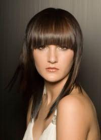 стрижка каскад на средние волосы с челкой 5