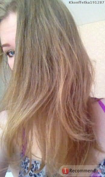 Фото 1-после 1 смывки с шампунем, высушив феном