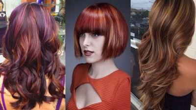 Колорирование рыжих волос в технике «зигзаг»