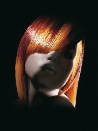 Мелкое мелирование на рыжие волосы