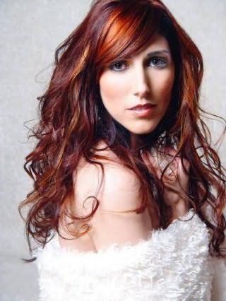 Фото мелирование рыжих волос