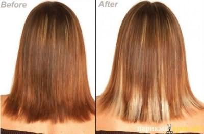 Мелирование рыжих волос - фото До и После