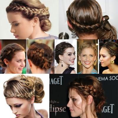 Прически на средние волосы с колосками выглядят не менее эффектно, чем варианты, созданные на длинных локонах.