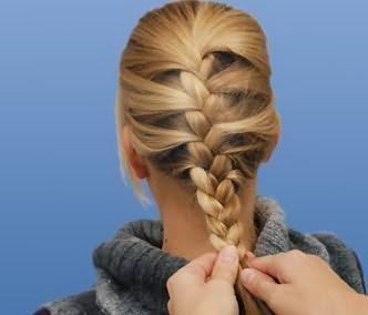 колоски на длинные волосы фото