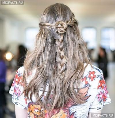 красивые косы на длинных волосах