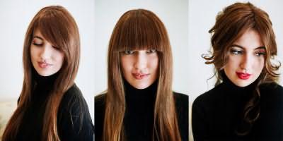 Длинные пряди у лица приятно удивят многообразием возможных вариантов их укладки своими руками