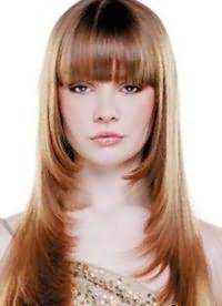 красивые стрижки на длинные волосы с челкой 5