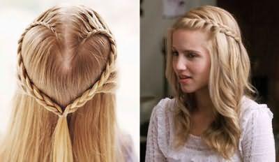 Плетение на распущенные волосы
