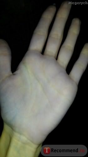 руки окрасились, но быстро отмылись