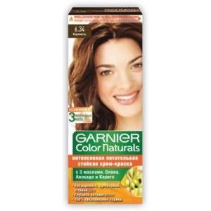 Фото красящего состава от Garnier, который неплохо справляется с сединой.