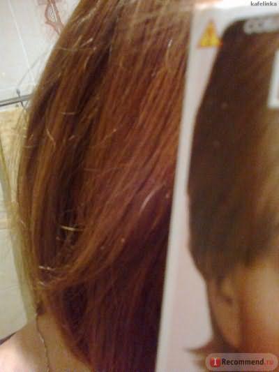 до: рыжевато-медные ранее окрашенные волосы