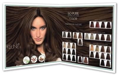 Палитра краски для волос Кене на фото