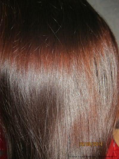 Волосы после.Вспышка