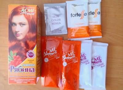 Состав краски для волос Рябина