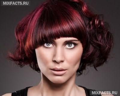 окрашивание волос в красный цвет