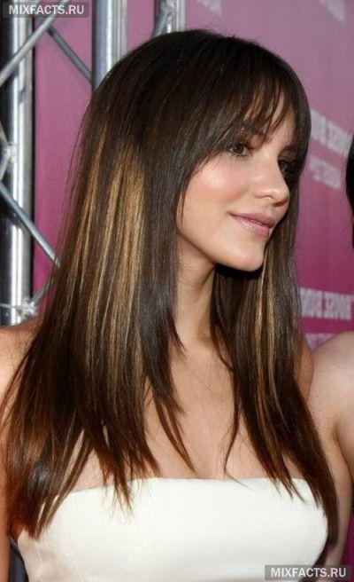 темное двутональное колорирование волос