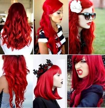 Огненные, вишневые, красно-рыжие волосы – выбор смелых и ярких натур