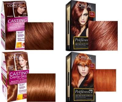 Рыжие оттенки краски для волос Loreal (Лореаль)
