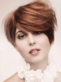 Креативная женская стрижка для густых средних волос русого цвета