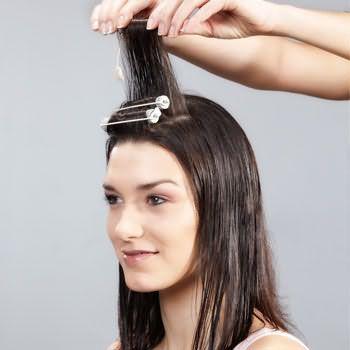 как делать химию для волос 1