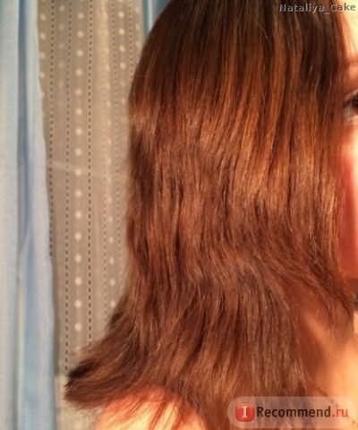 Уже расчесанные волосы
