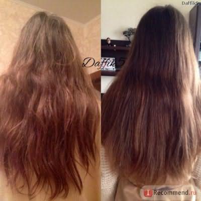 Слева волосы ещё даже нерасчесаны