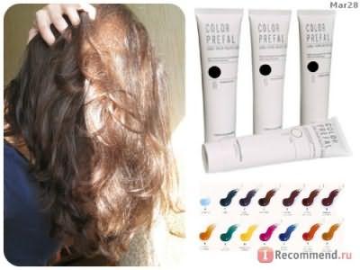 палитра Color Prefal Gel и волосы при разном освещении
