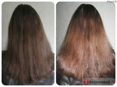 до ламинирования Color Prefal Gel (волосы вытянуты, длину я стригла чуть ранее)