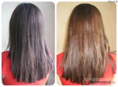 после ламинирования Color Prefal Gel (волосы вытянуты)