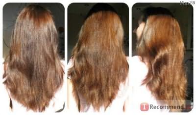 период увлечения народными рецептами ( волосы после льняного маскла), эффект длиться до ближайщей помывки, не накапливается.