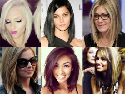 Асимметрия для прямых волос