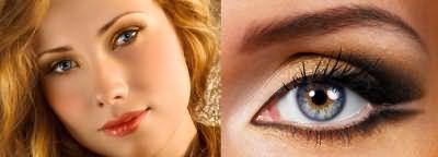 Античное золото для макияжа голубоглазых