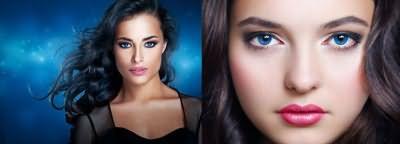 Темные волосы и голубые глаза – эффектное сочетание