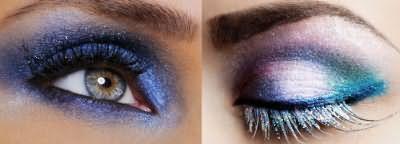Золото и фиолет для голубых глаз