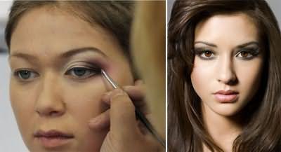 Нависшие веки: секрет в макияже